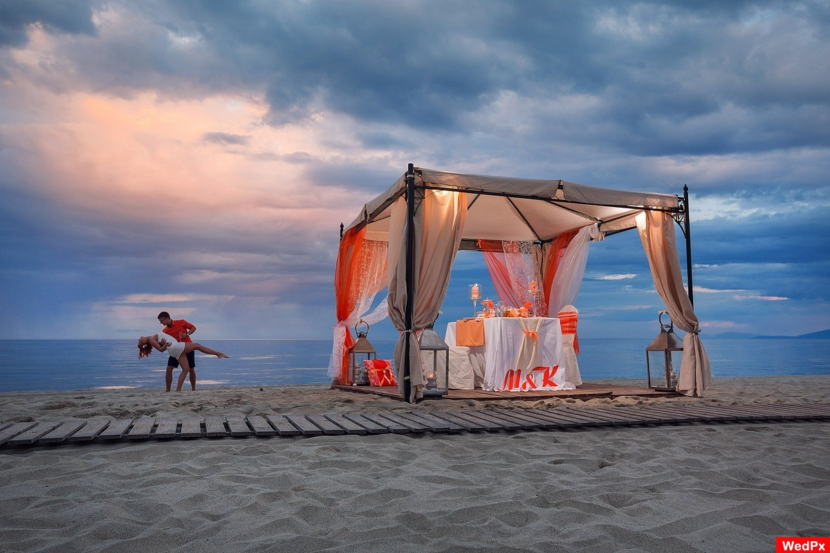 Beach Wedding Dinner In Pieria Greece
