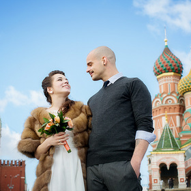 Wedding. Moscow, Red Square