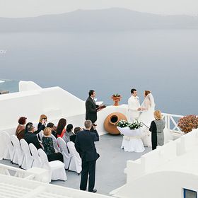 Wedding in Santorini, Greece.