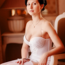 Bride portrait. Boudoir.
