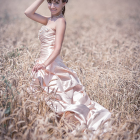 Bride fotosesessiya Meadow