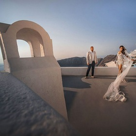 Amazing couple from Santorini