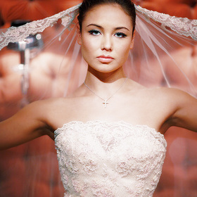 Laysan Utiasheva in wedding dress